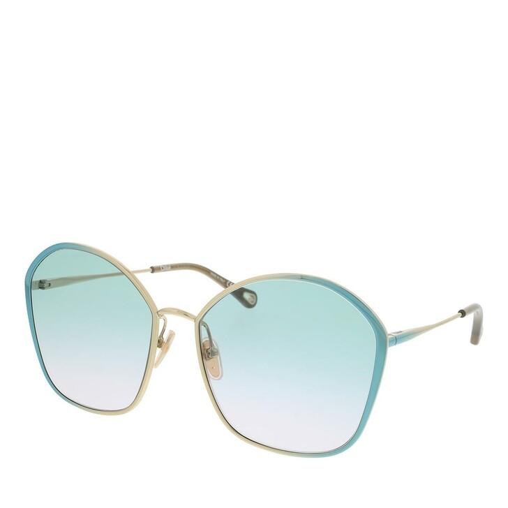 Sonnenbrille, Chloé, Sunglass WOMAN METAL BLUE-BLUE-GREEN