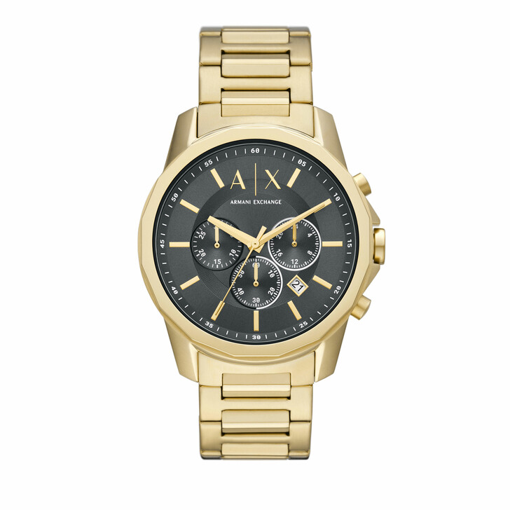 watches, Armani Exchange, Men's Chronograph Stainless Steel Watch, AX1721 Gold