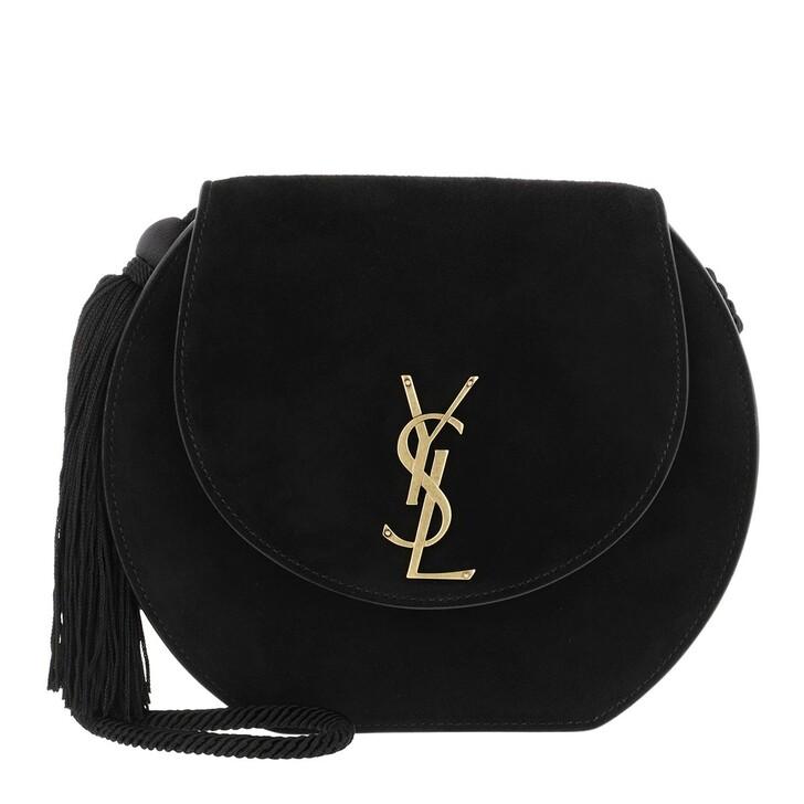 Handtasche, Saint Laurent, Demie Lune Minaudère Suede Black