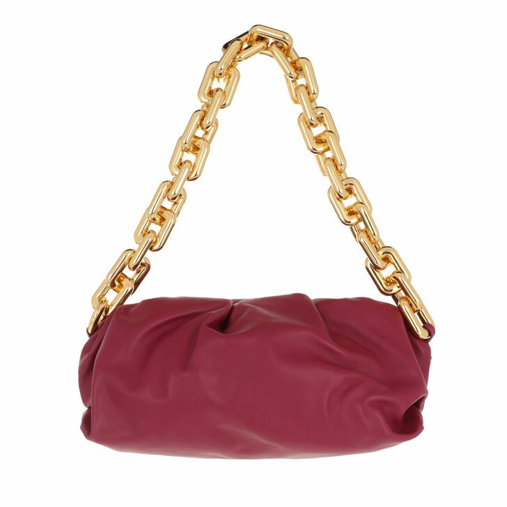 bags, Bottega Veneta, The Chain Medium Pouch Leather Purple/Gold