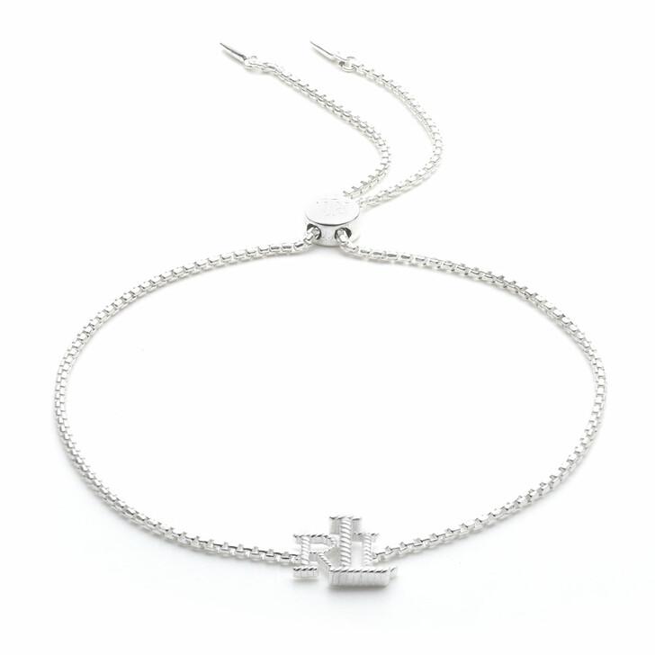 bracelets, Lauren Ralph Lauren, Bracelet LRL Logo Slider Silver