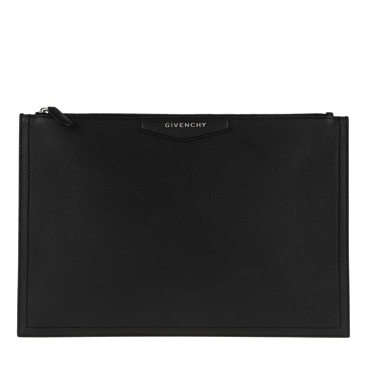 Handtasche, Givenchy, Antigona Clutch Leather Black