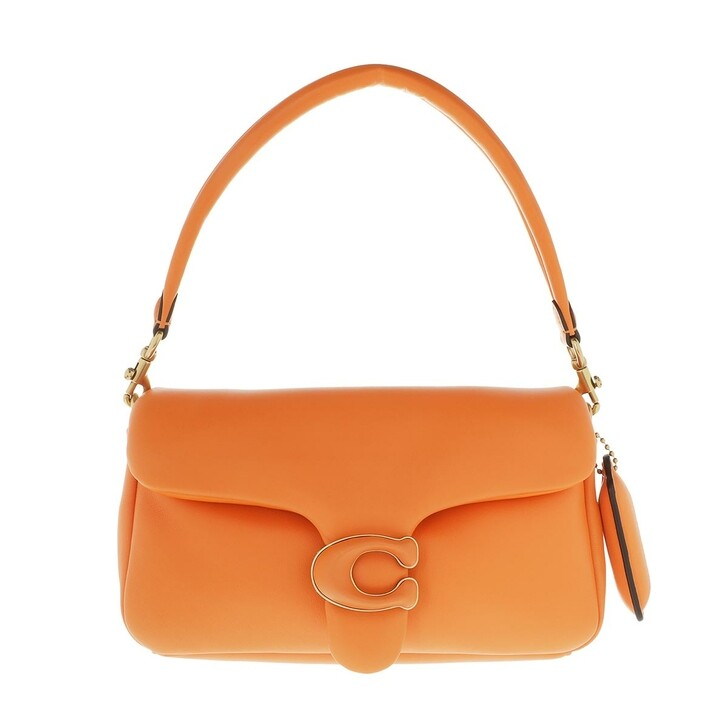 Handtasche, Coach, Leather Covered C Closure Pillow Tabby Shoulder Bag Candied Orange
