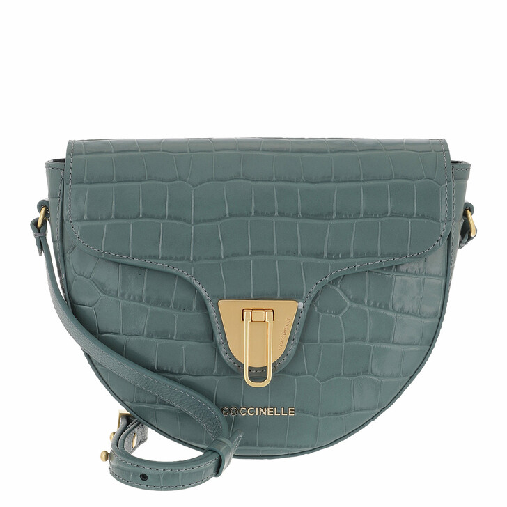 bags, Coccinelle, Coccinelle Beat Handbag Shiny Soft Croco Shark Grey