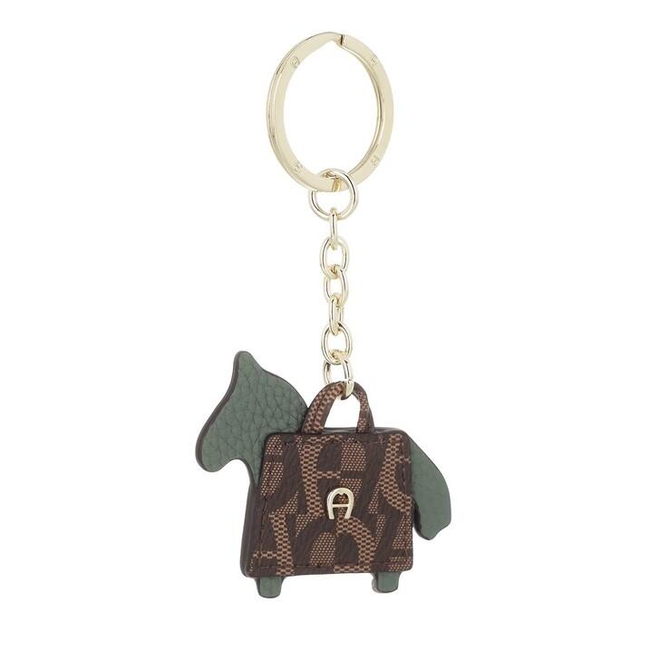 keyrings, AIGNER, Fashion Keychain Horse Dusty Green