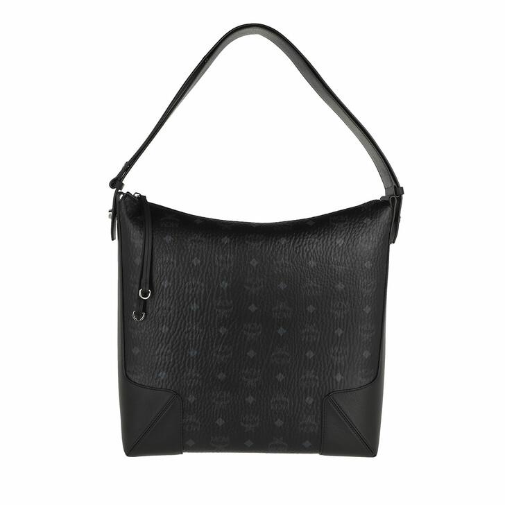 bags, MCM, Klara Visetos Hobo Large  Black