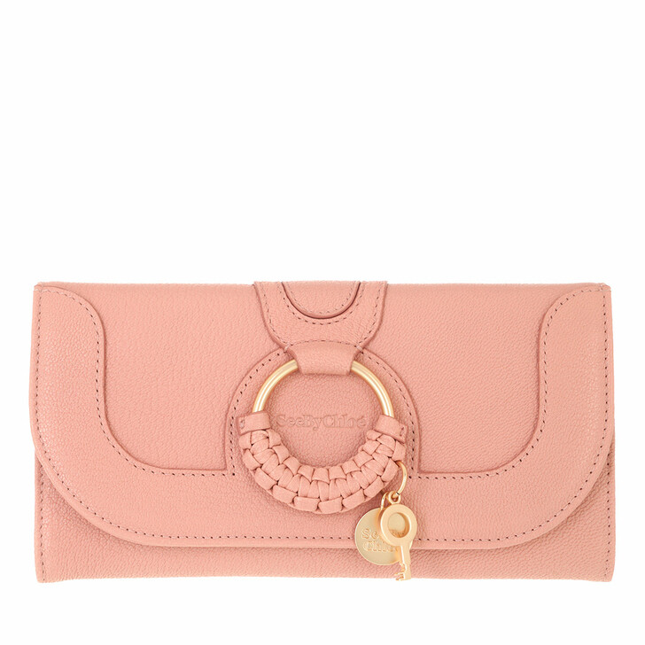 wallets, See By Chloé, Hana Wallet Large Fallow Pink