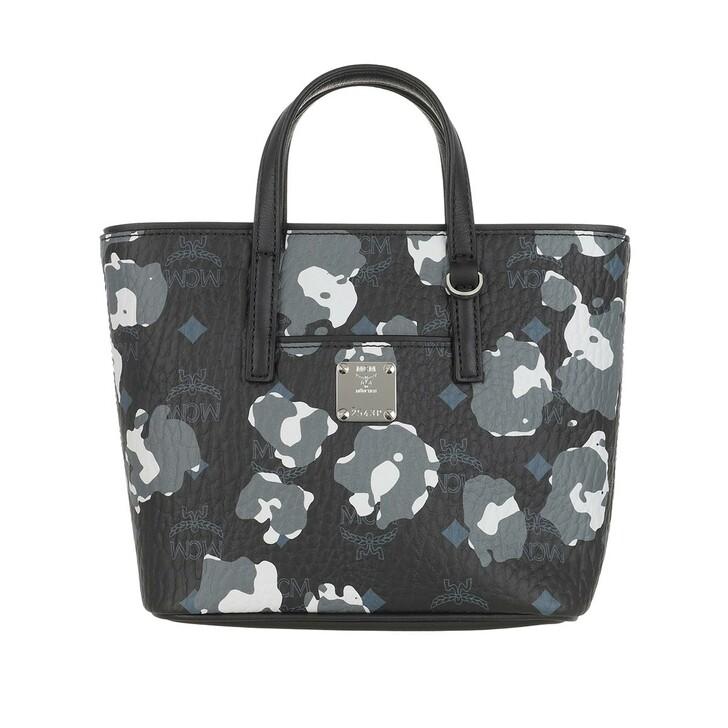 Handtasche, MCM, Anya Floral Leopard Shopper Mini  Black