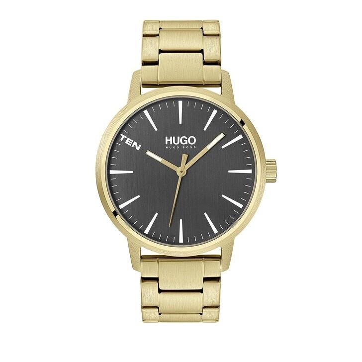 Uhr, Hugo, Men Quartz Watch Stand Gold