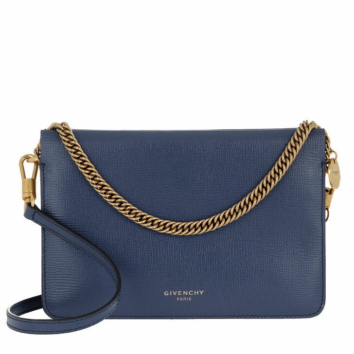 Handtasche, Givenchy, Two-Toned Cross3 Bag Leather Blue Beige