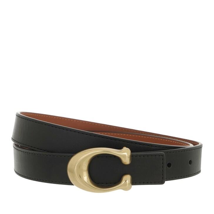 belts, Coach, 25Mm Sculpted C Reversible Belt B4/Black 1941 Saddle