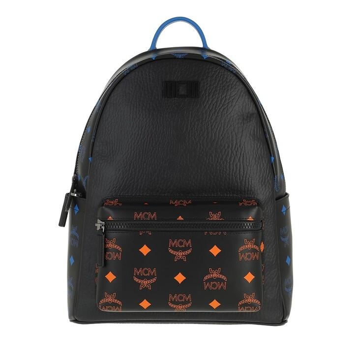bags, MCM, Color Splash Logo Backpack Medium Black