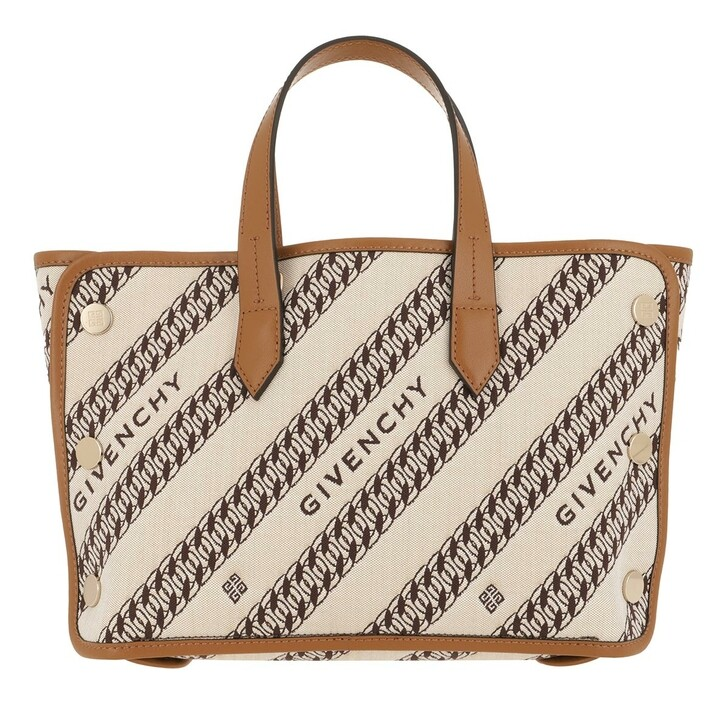 bags, Givenchy, Mini Bond Shopper Chain Jacquard Beige