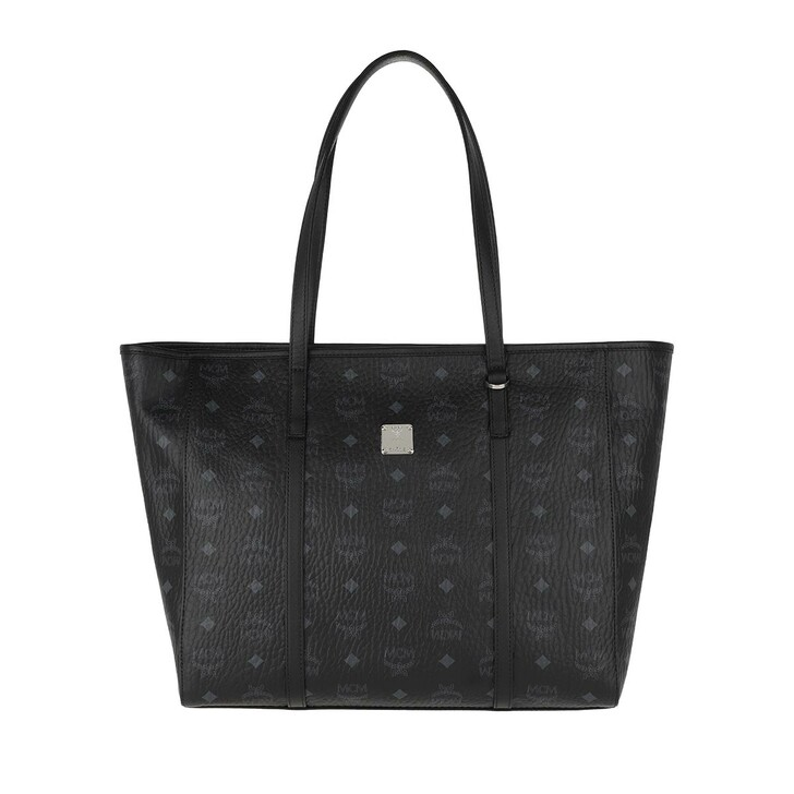 bags, MCM, Toni Visetos Shopper Medium Black