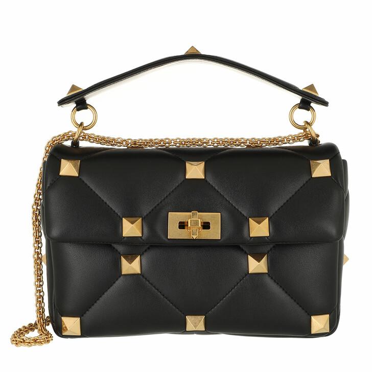 bags, Valentino Garavani, Shoulder Bag Leather Black