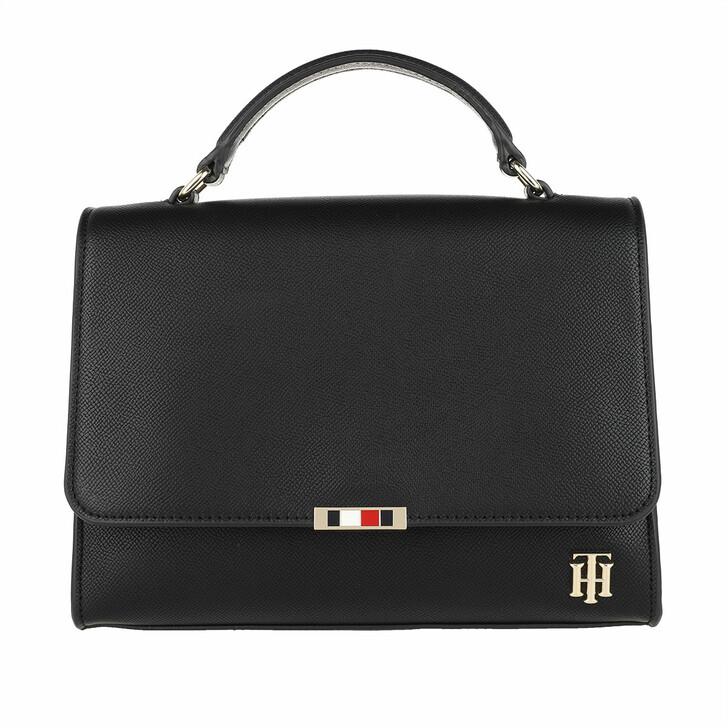Handtasche, Tommy Hilfiger, Saffiano Satchel Black
