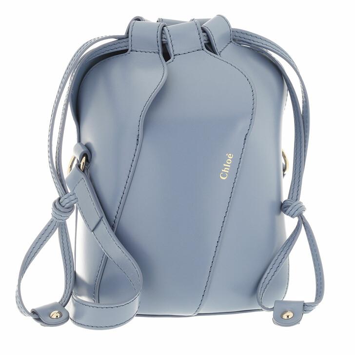 bags, Chloé, Tulip Bucket Bag Leather Gentle Blue