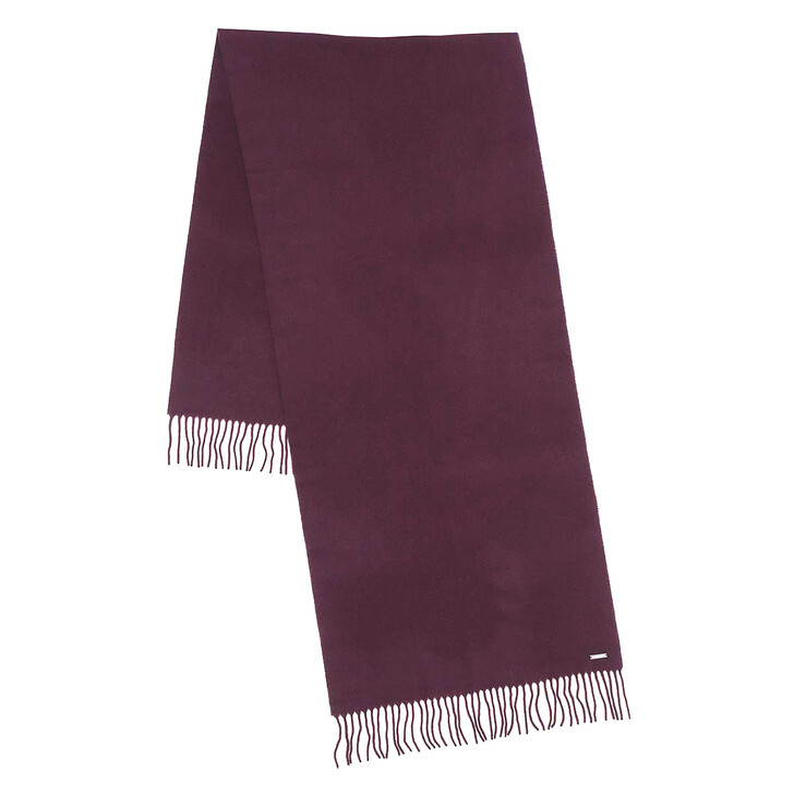 Schal, Lauren Ralph Lauren, Oblong Scarf Wool Dark Raisin