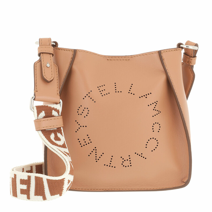 bags, Stella McCartney, Small Logo Hobo Bag Matt Camel