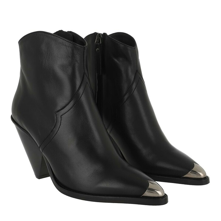 Schuh, Toral, Golden Toe Sude Ankle Boots Negro