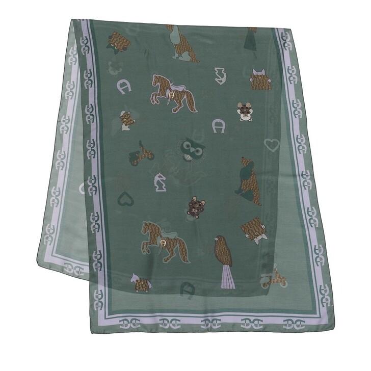 scarves, AIGNER, Seasonal Stola 70 x 180 cm Dusty Green