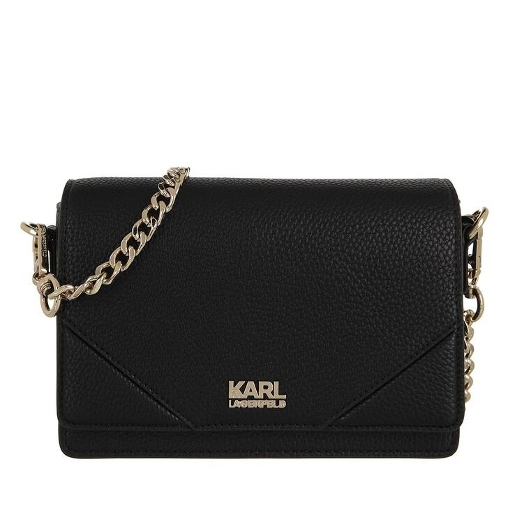 bags, Karl Lagerfeld, K/Stone Crossbody A999 Black