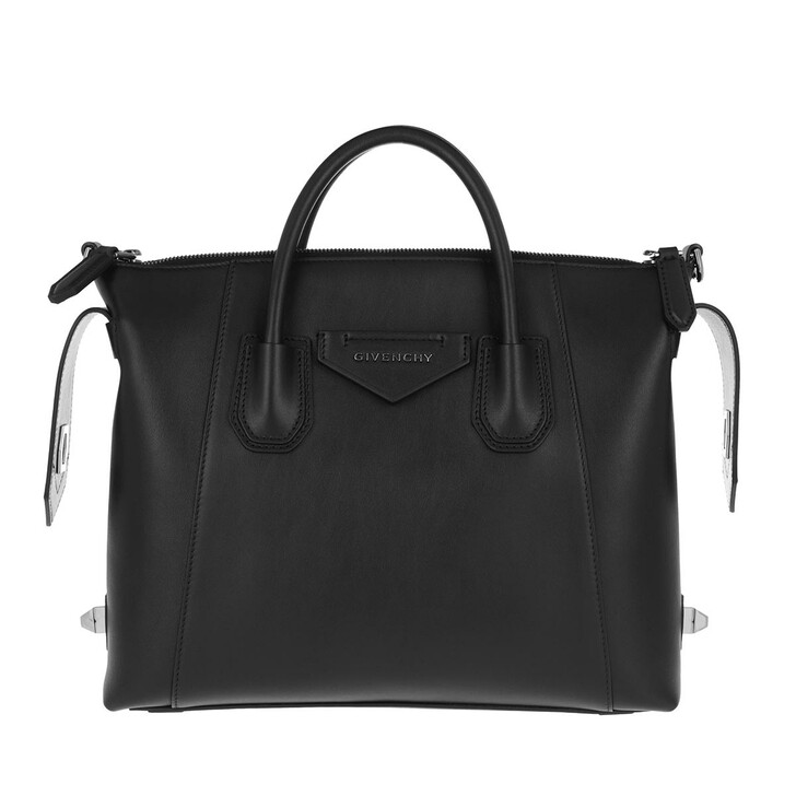 Handtasche, Givenchy, Antigona Small Soft Satchel Bag Calfskin Black