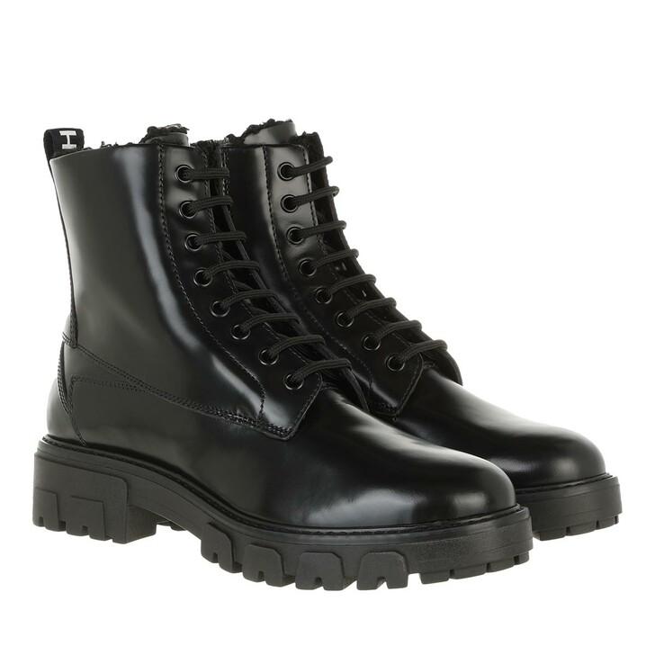 shoes, Hugo, Axel Fur Bootie Black