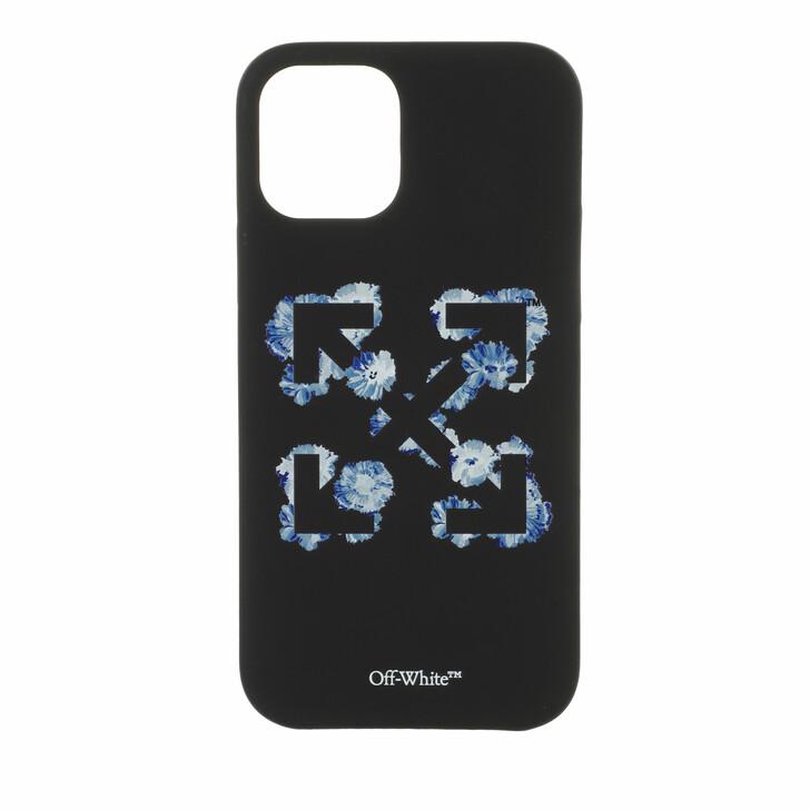 smart_cases, Off-White, Floral Arrows Iphone 12 Mini Black/Blue