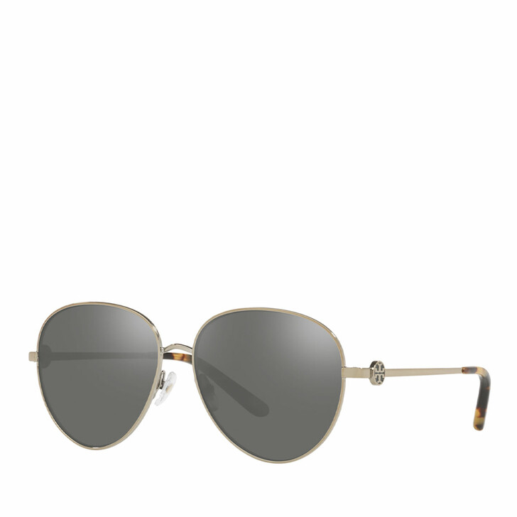 Sonnenbrille, Tory Burch, 0TY6082 SHINY GOLD METAL