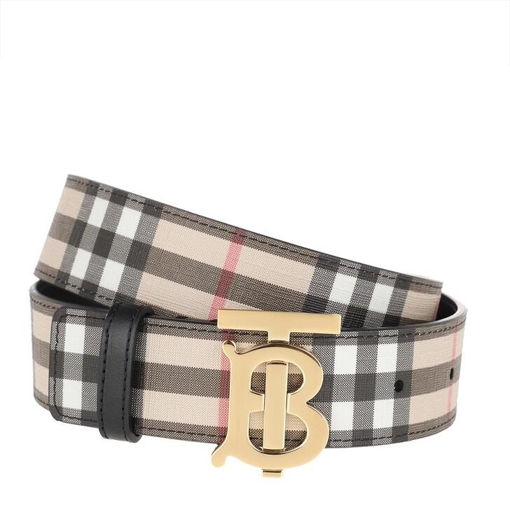 Gürtel, Burberry, Monogram Motif Vintage Check Belt Archive Beige