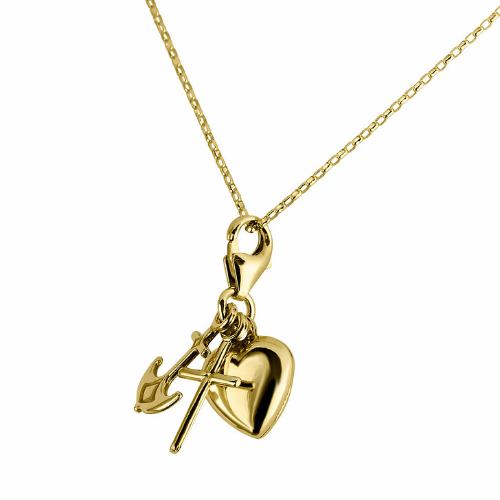 necklaces, BELORO, Pendant/Chain 375  Yellow Gold