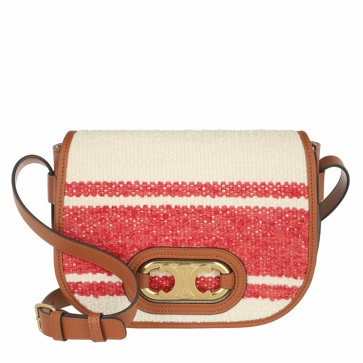 Handtasche, Celine, Small Triomphe Crossbody Bag Red/Tan
