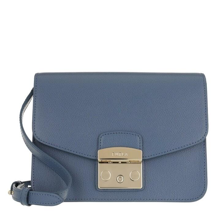 Handtasche, Furla, Metropolis S Crossbody Blu Denim