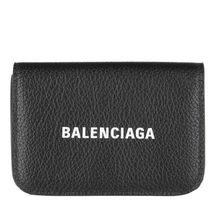 Geldbörse, Balenciaga, Cash Mini Wallet Black White