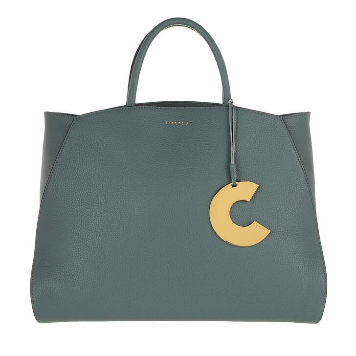 bags, Coccinelle, Concrete Handbag Grainy Leather  Shark Grey