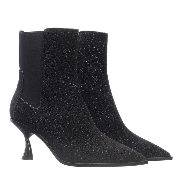 shoes, Casadei, Polacco Heeled Boot Infinity Nero