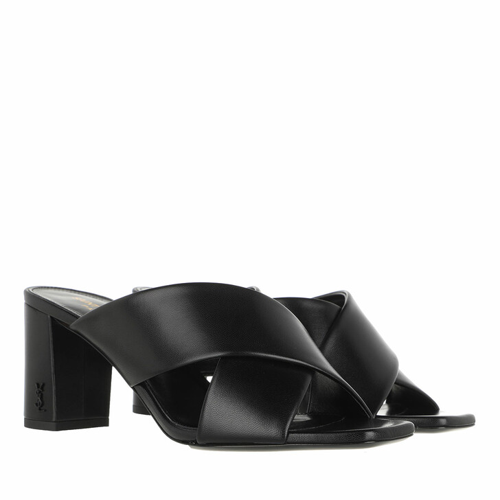 Schuh, Saint Laurent, Heeled Sandals  Black