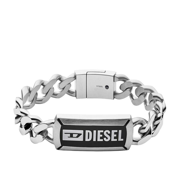 Armreif, Diesel, Stainless Steel Chain ID Bracelet Silver