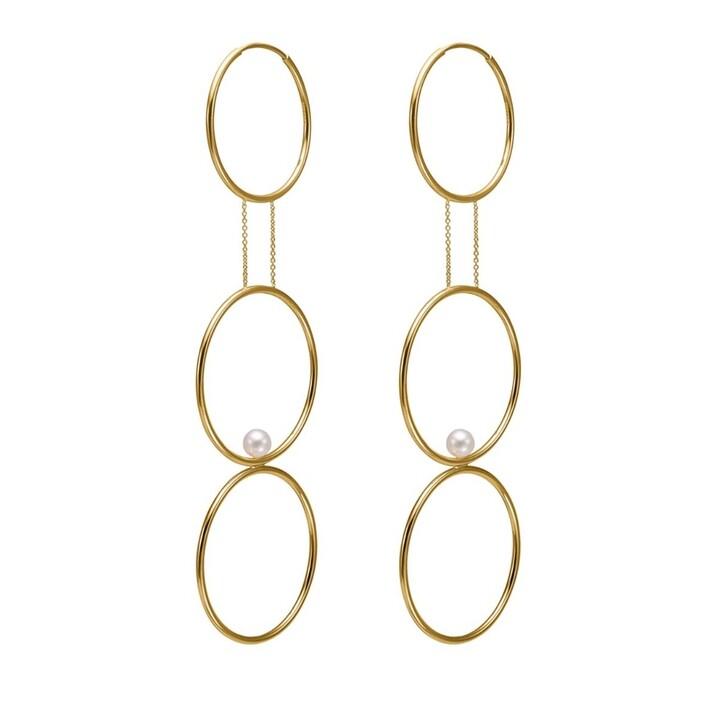 Ohrring, Charlotte Lebeck, Jukes Creole Earrings Yellow Gold