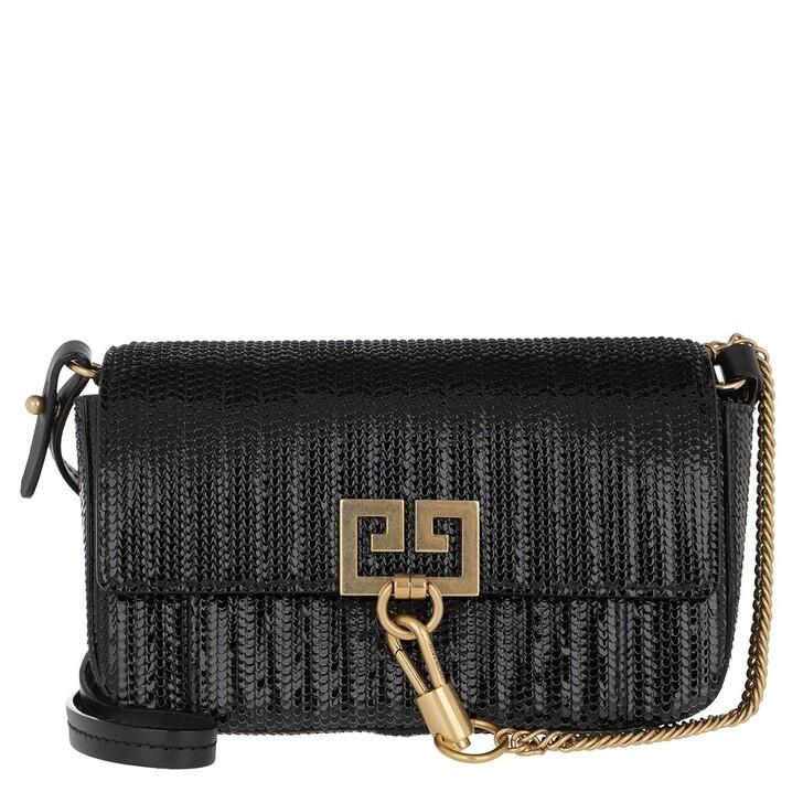 Handtasche, Givenchy, Snake Effect Mini Pocket Bag Leather Black