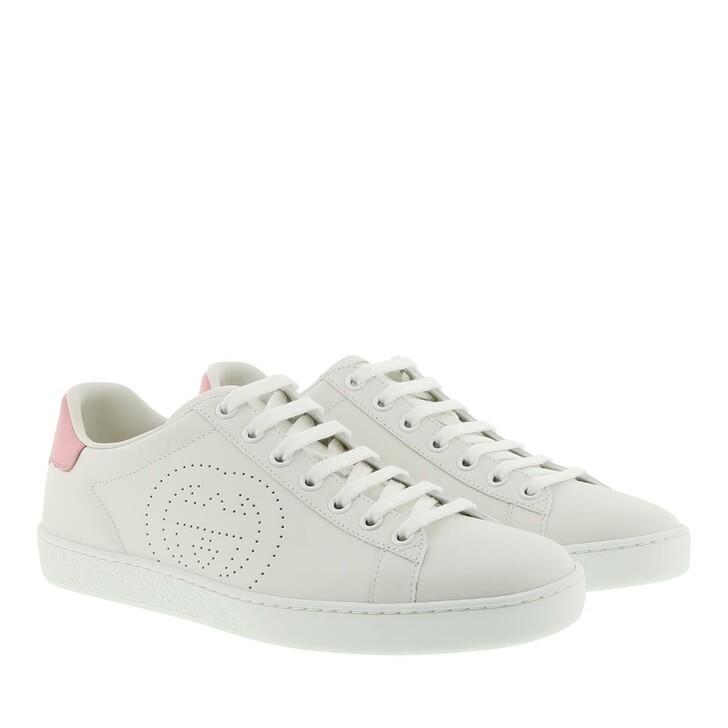 Schuh, Gucci, GG Print Ace Sneaker White/Light Pink