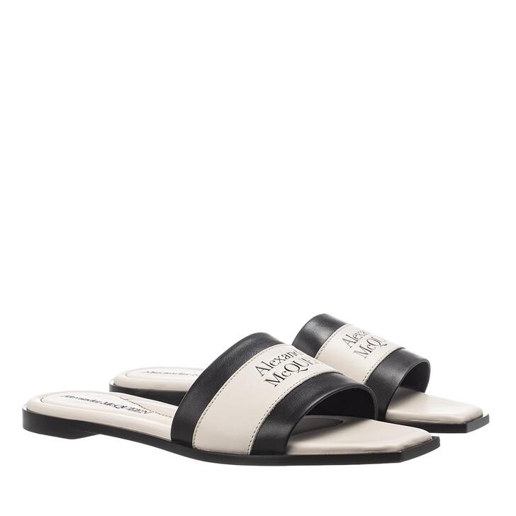 Schuh, Alexander McQueen, Sandal Leather Black/Deep Ivory