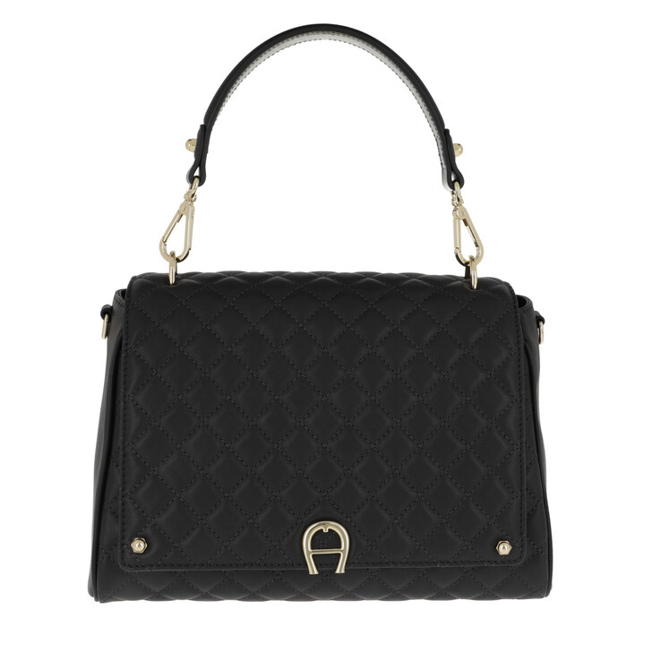 Handtasche, AIGNER, Garda M Crossbody Bag Black