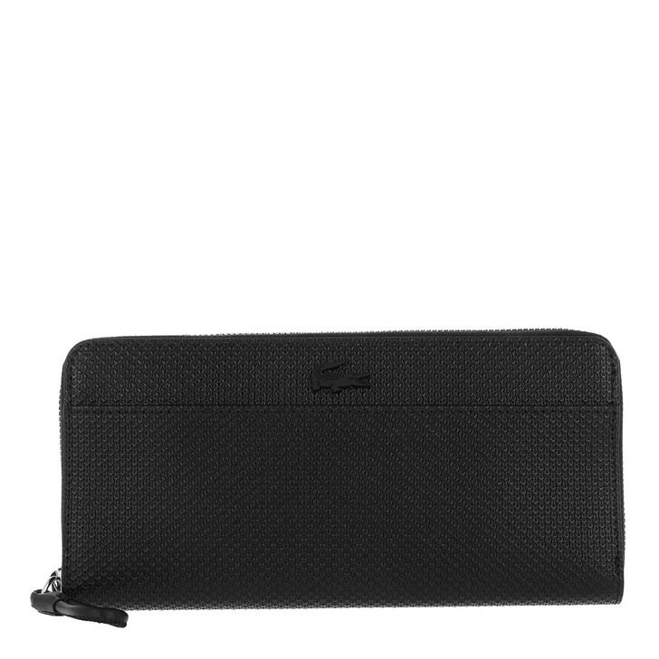 Handtasche, Lacoste, Chantaco Long Zip Wallet Black