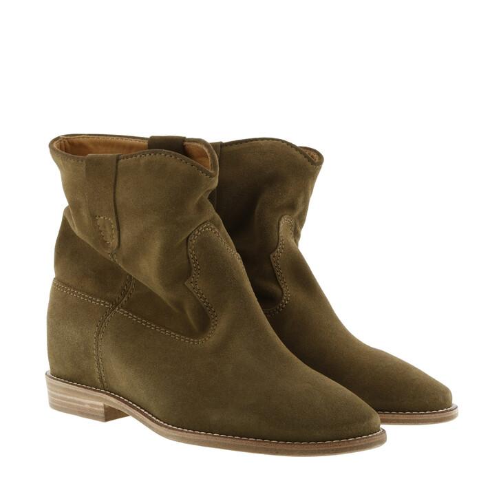 shoes, Isabel Marant Étoile, Crisi 40 Hill Boots Suede Brown