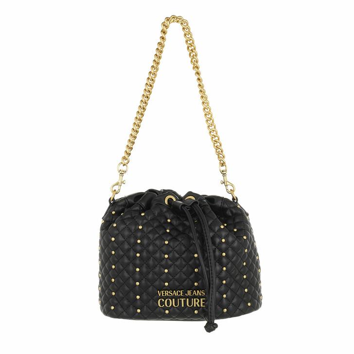 bags, Versace Jeans Couture, Bucket Bag Black