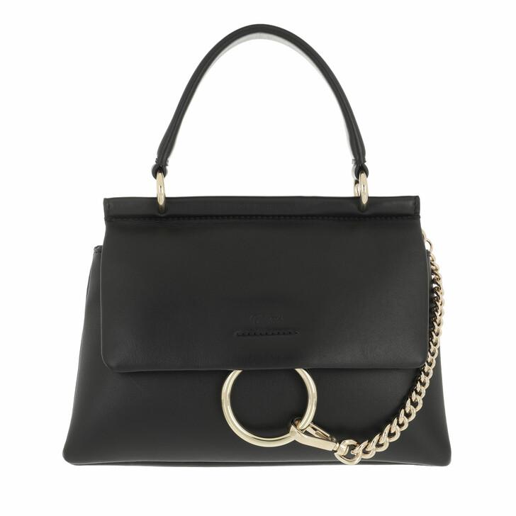bags, Chloé, Small Faye Soft Top Handle Bag Black