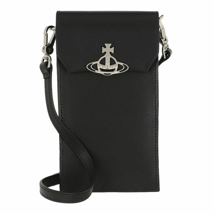 Smartphone/Tablet case (Case), Vivienne Westwood, Sofia Phone Bag Black