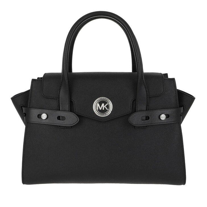 bags, MICHAEL Michael Kors, Carmen LG Flap Satchel Bag Black